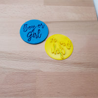 Boy or Girl - Baby Shower Cookie/Fondant Embosser - just-little-luxuries