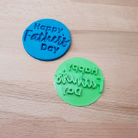 Happy Father's Day - Father's Day Cookie/Fondant Embosser - just-little-luxuries