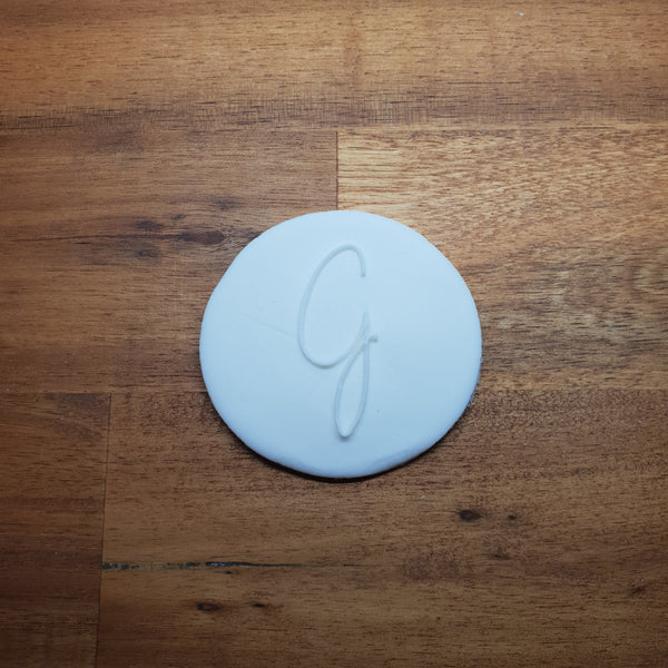 Monogram Raised 3D Cookie Embosser. Font Type G - just-little-luxuries
