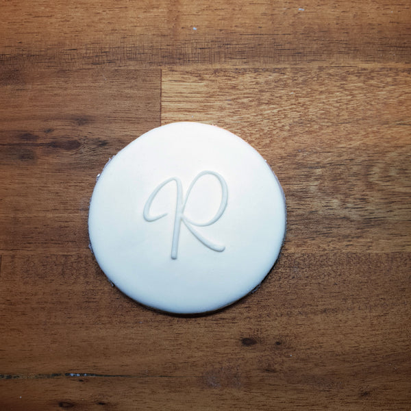 Monogram Raised 3D Cookie Embosser. Font Type R - just-little-luxuries