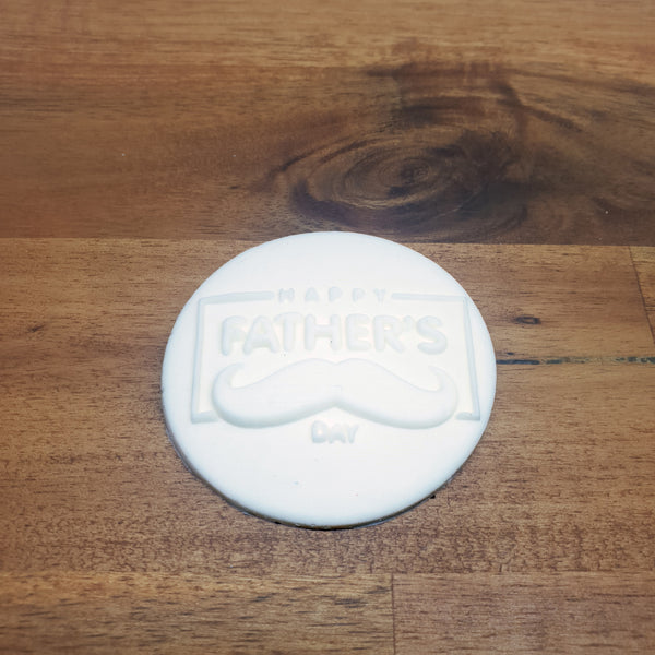 Happy Father's Day Moustache Raised 3D Embosser.