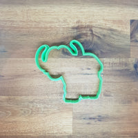 African Buffalo Cookie Cutter and Embosser.