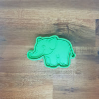 Cartoon Elephant Cookie Cutter and Embosser.