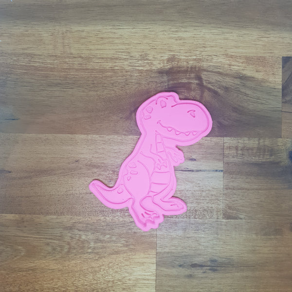 Cartoon Trex (1) Cookie Cutter and Embosser.