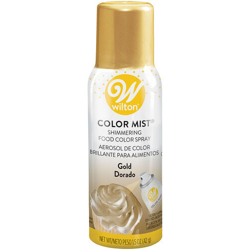 Gold Colour Mist Shimmering Food Color Spray - just-little-luxuries