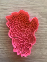Mother Rose Bouquet Flowers Cookie Cutter and Embosser.