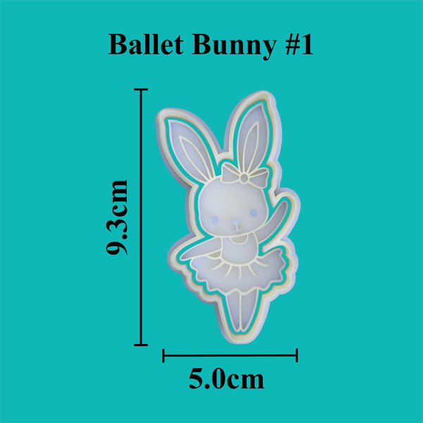 Ballet Bunny (1) Cookie Cutter and Embosser.