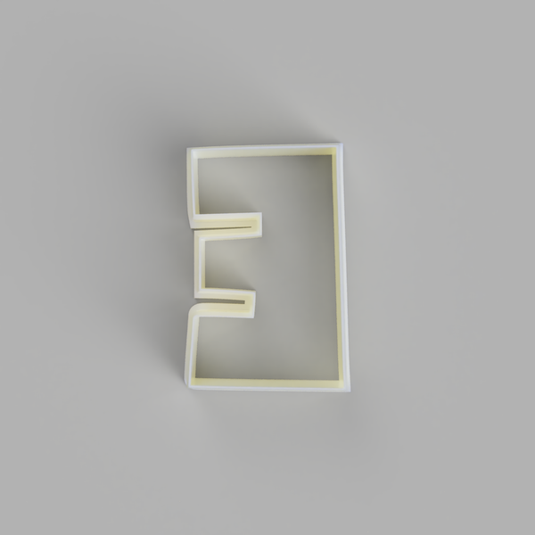 Capital E - Alphabet Cookie Cutters