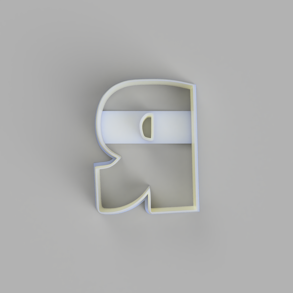 Capital R - Alphabet Cookie Cutters