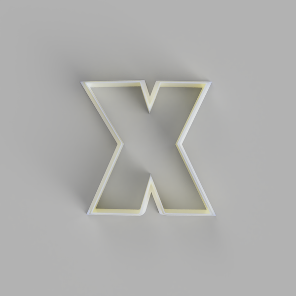 Capital X - Alphabet Cookie Cutters