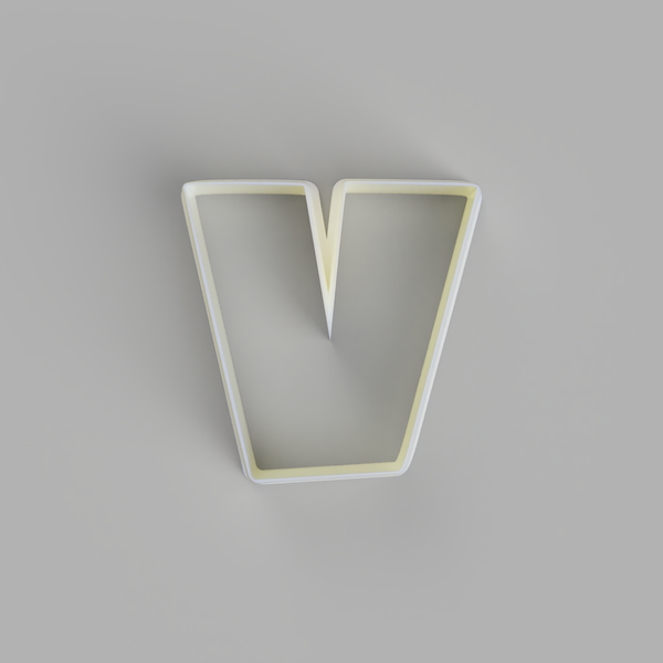 Lower Case v - Alphabet Cookie Cutters