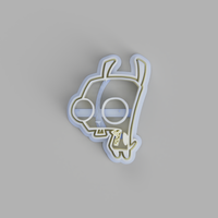 GIR (Invader Zim) Cookie Cutter - just-little-luxuries