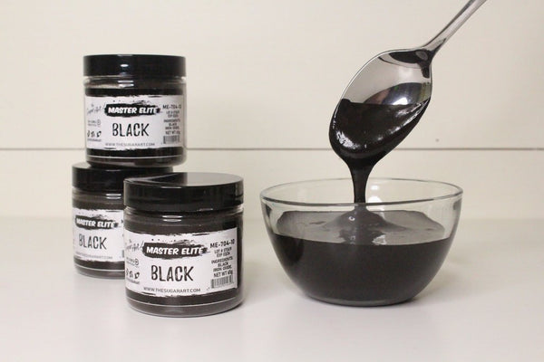 Black (ME-704-10) - Master Elite Colors by The Sugar Art - just-little-luxuries