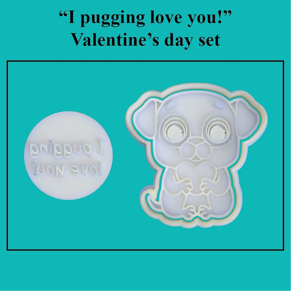 """I pugging love you!"" Valentine's Day Set - just-little-luxuries"