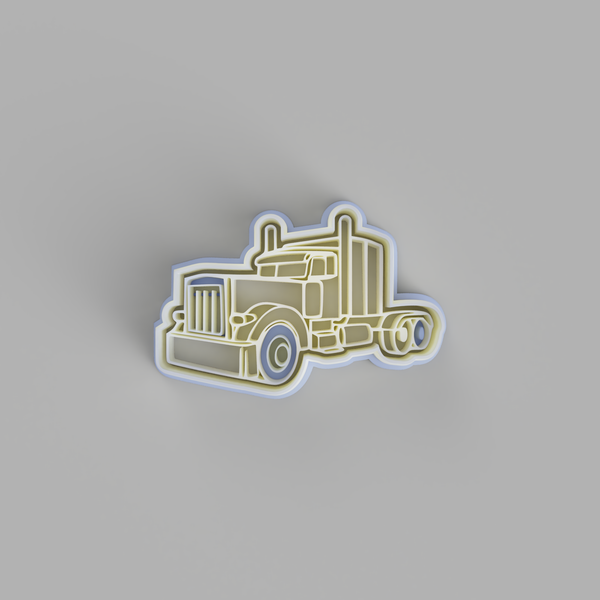 Kenworth Semi Truck Cookie Cutter - just-little-luxuries