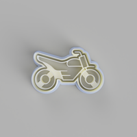 Motorbike 3 cookie cutter and stamper - just-little-luxuries
