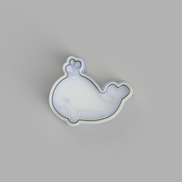 Cute Whale Cookie Cutter and Embosser
