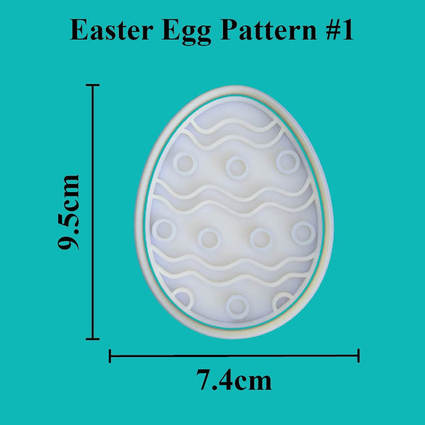 Easter Egg Cutter and Embosser. Pattern #1 - just-little-luxuries