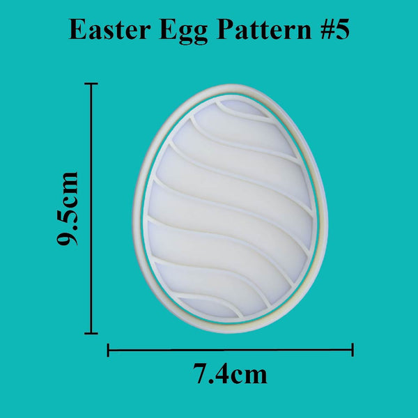 Easter Egg Cutter and Embosser. Pattern #5 - just-little-luxuries