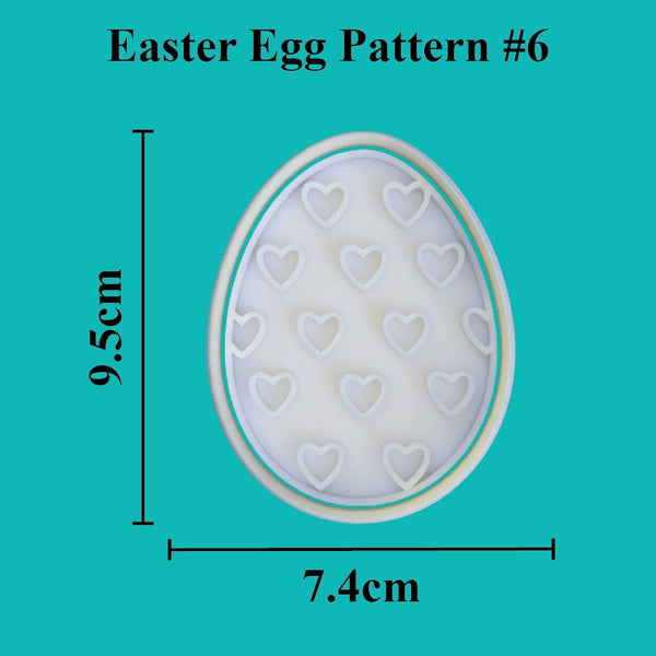 Easter Egg Cutter and Embosser. Pattern #6 - just-little-luxuries