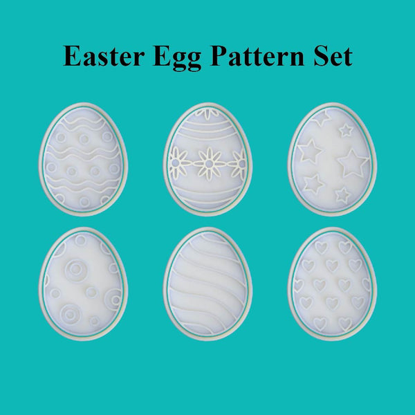 Easter Egg Cutter and Embosser. Pattern Set - just-little-luxuries