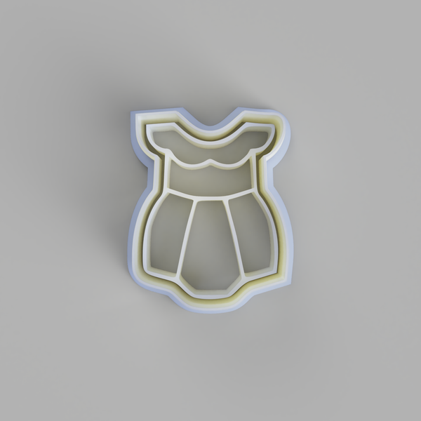 Girly Baby romper cookie cutter