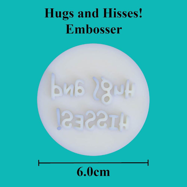 """Hugs and hisses"" embosser - just-little-luxuries"