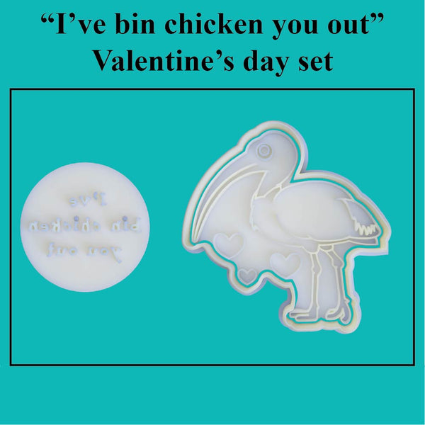 """I've bin chicken you out"" Valentine's Day Set - just-little-luxuries"