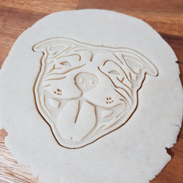 Staffy face cookie cutter - just-little-luxuries