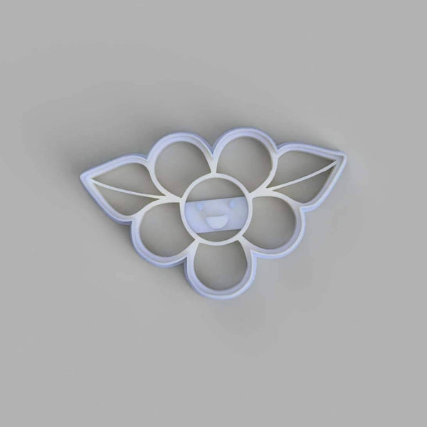 Flower with Two Leaves Cookie Cutter - just-little-luxuries
