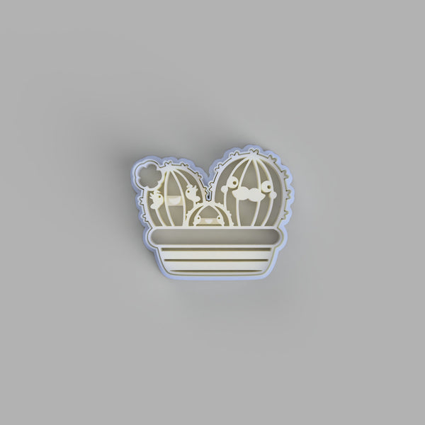 Happy cactus family cookie cutter - just-little-luxuries