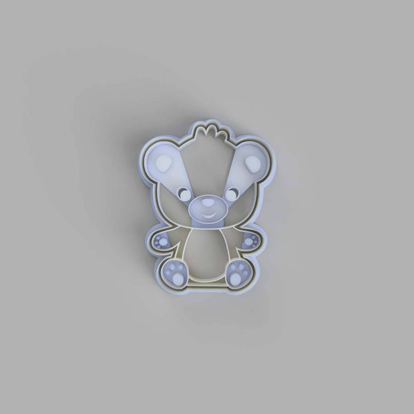 Teddy Bear Sitting Cookie Cutter - just-little-luxuries