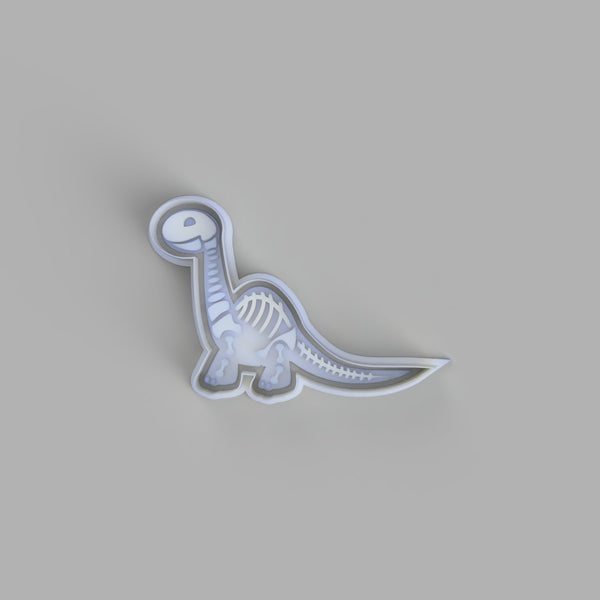 Brontosaurus Skeleton Cookie Cutter and Stamper - just-little-luxuries