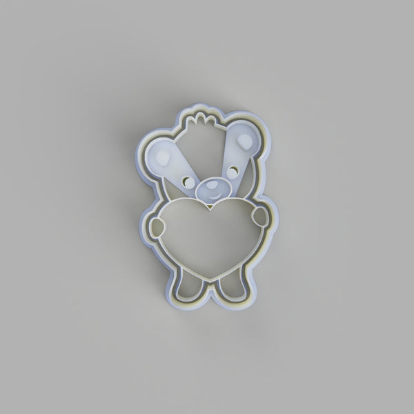 Teddy Bear Holding Heart Cookie Cutter - just-little-luxuries