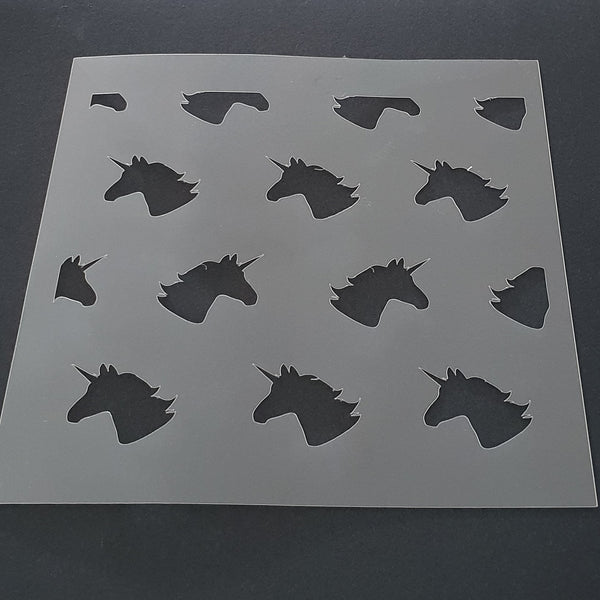 Unicorn Heads Cookie Stencil - just-little-luxuries