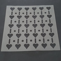 Hearts Lines and Dots Cookie Stencil - just-little-luxuries