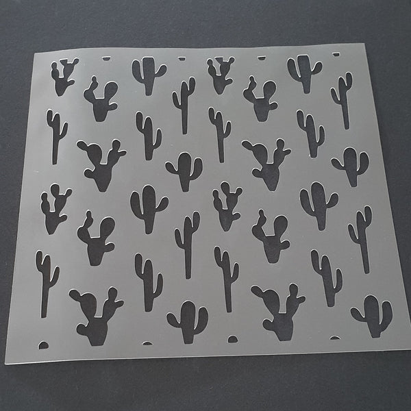 Cactus Scatter Cookie Stencil - just-little-luxuries