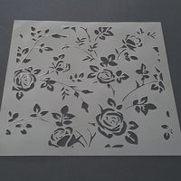 Rose Motif Cookie Stencil - just-little-luxuries