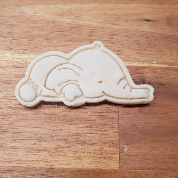 Elephant sleeping cookie cutter and stamper - just-little-luxuries