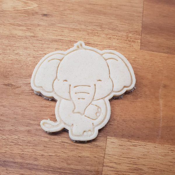 Cheeky Elephant cookie cutter and stamper. - just-little-luxuries