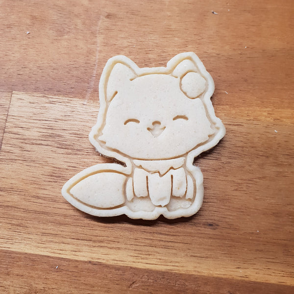 Fox with flower cookie cutter and stamper - just-little-luxuries