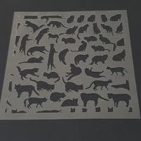 Cat Seamless Cookie Stencil - just-little-luxuries