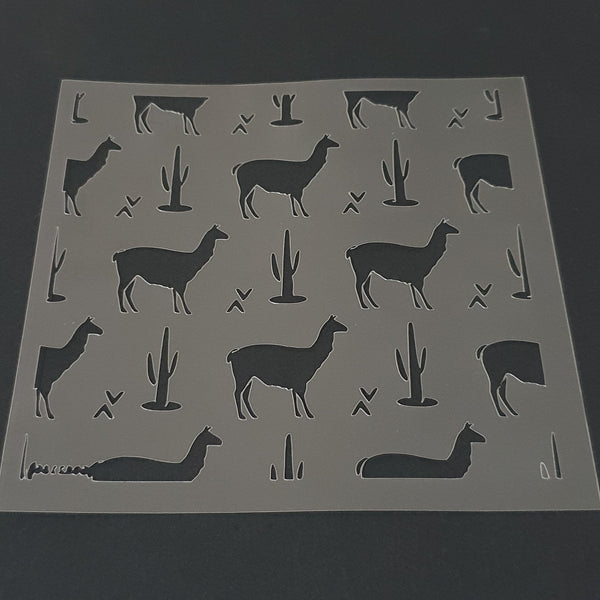 Llama Pattern Cookie Stencil - just-little-luxuries