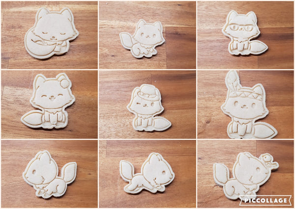 Fox cookie cutter and stamper Collection - just-little-luxuries