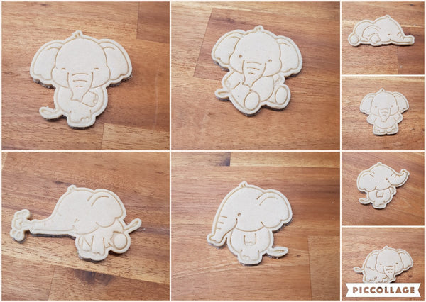 Elephant cookie cutter and stamper Collection. - just-little-luxuries