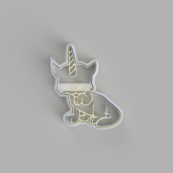 Cat unicorn cookie cutter and stamper - just-little-luxuries