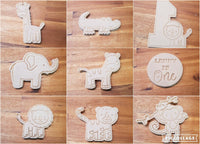 Safari animal cookie cutter and stamper Birthday Set - just-little-luxuries