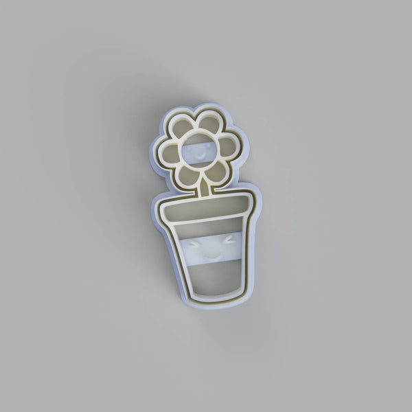 Kawaii flower in pot cookie cutter - just-little-luxuries
