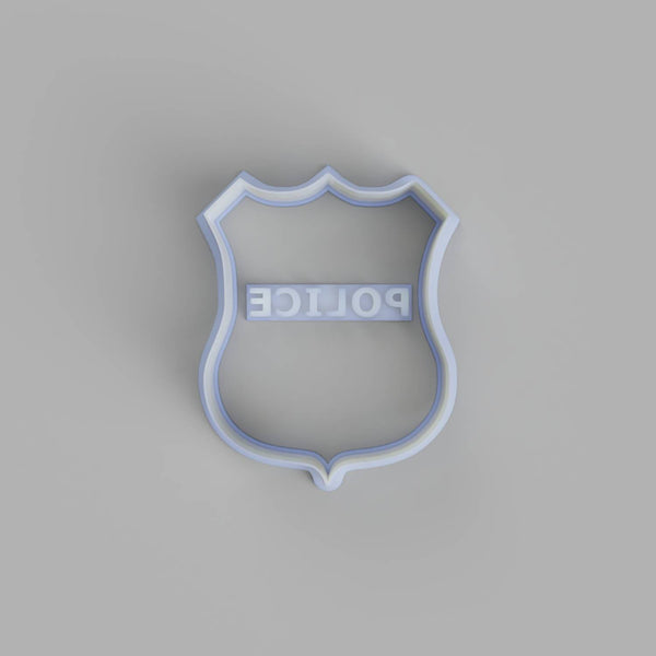 Police badge cookie cutter and stamper - just-little-luxuries