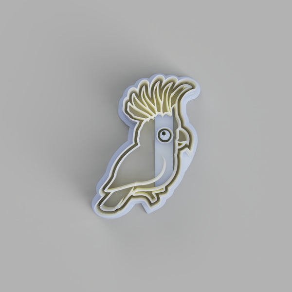 Sulphur Crested Cockatoo cookie cutter and stamper - just-little-luxuries